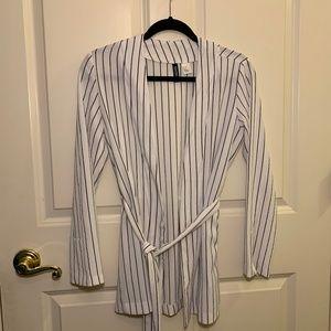 Casual Striped Blazer